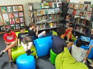 "My first instinct here is to discourage gaming in order to direct these teenage boys toward the shelves however spending some time talking with them about this gaming culture that they bring into the library reveals a rich depth of knowledge, dialogue, narrative & sophistication. This is a part of their ""cultural capital"" that they share across the national cultures this cohort represents. Student focussed means tuning in to student identity."