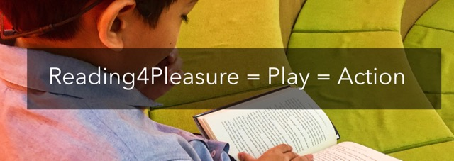 Recreational reading = play = action