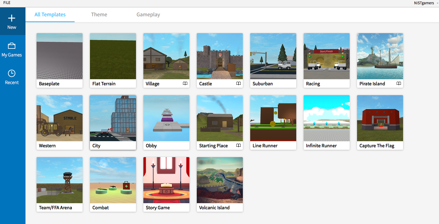 Roblox templates
